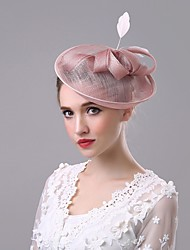 cheap -Flax Hats with 1 Wedding / Special Occasion / Casual Headpiece