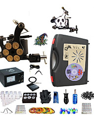 cheap -BaseKey Professional Tattoo Kit Tattoo Machine - 2 pcs Tattoo Machines Analog power supply 1 steel machine liner & shader / 1 alloy machine liner & shader / Case Included