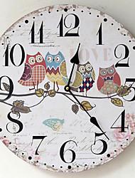 Недорогие -Современный современный Дерево / пластик AA Украшение Настенные часы Да
