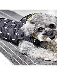 cheap -Dog Coat Dog Clothes Lightning Dark Blue Red Cotton Costume For Winter Men's Women's Reversible Sports Fashion