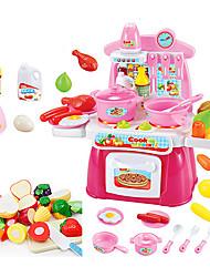 Недорогие -beiens Игрушка кухонные наборы Игрушка Посуда и чайные сервизы Детская техника Кулинария LED освещение Звук ABS Детские Девочки Игрушки Подарок 22 pcs