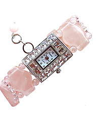 cheap -Women's Fashion Watch Quartz Jade Pink Analog Pink