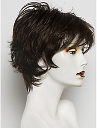 cheap -Human Hair Capless Wigs Human Hair Wavy Pixie Cut / Layered Haircut / Short Hairstyles 2019 / With Bangs Halle Berry Hairstyles Side Part Short Machine Made Wig Women's