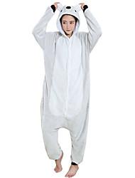 cheap -Adults' Kigurumi Pajamas Koala Onesie Pajamas Flannel Toison Gray Cosplay For Men and Women Animal Sleepwear Cartoon Festival / Holiday Costumes