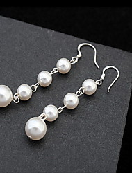 cheap -Women's Pearl Stud Earrings Love Ladies Natural Sterling Silver Earrings Jewelry White For Daily