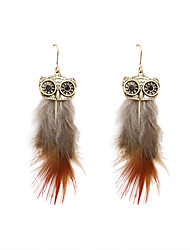 cheap -Women's Drop Earrings Fashion Feather Earrings Jewelry Yellow / Red For Wedding Party Daily Casual Sports