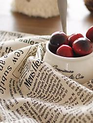 cheap -English Retro Printed Newspaper Pattern Placemats 50x70cm Cotton Linen Napkin