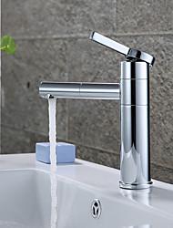 cheap -Modern Centerset Rotatable Ceramic Valve Single Handle One Hole Chrome, Bathroom Sink Faucet