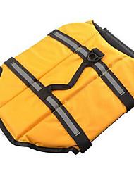 Недорогие -Собака Спасательные жилеты Одежда для собак Желтый Синий Розовый Костюм Хлопок Однотонный На каждый день Спорт XS S M L