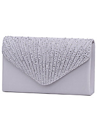 cheap -Women's Crystal / Rhinestone Polyester Evening Bag / Tri-fold Rhinestone Crystal Evening Bags Navy Blue / Almond / Wine / Wedding Bags / Wedding Bags