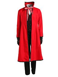 cheap -Inspired by Black Butler Death Grell Sutcliff Anime Cosplay Costumes Japanese Cosplay Suits Solid Colored Long Sleeve Cravat Coat Vest For Men's Women's / Shirt / Pants / Gloves / Shirt / Pants