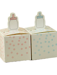 cheap -Cubic Card Paper Favor Holder with Pattern Favor Boxes - 50