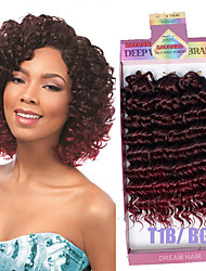 cheap -Hair Accessory Human Hair Extensions Weave Curly Box Braids Synthetic Hair Short Braiding Hair 3pcs / pack / There are 3 piece in one pack. Normally 5-7 pack are enough for a full head.
