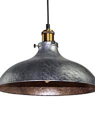 Недорогие -старинные подвесные светильники промышленные 1-свет серебристый серый металлический столовая прихожая кафе бары одежда магазин освещение