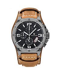 cheap -Men's Sport Watch Quartz Leather Orange 30 m Analog - Digital White Yellow