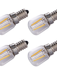 cheap -4pcs 1.5 W LED Filament Bulbs 100 lm E14 2 LED Beads COB Decorative Warm White 220 V / 4 pcs
