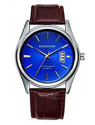 cheap -Men's Wrist Watch Quartz Leather Band Material Black / Brown Calendar / date / day Analog Casual Fashion Dress Watch - Black Coffee