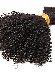 cheap -brazilian kinky curly bulk hair no weave natural color virgin kinky curl bulk extensions 1pcs set