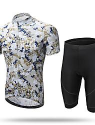 abordables -XINTOWN Homme Manches Courtes Maillot et Cuissard Velo Cyclisme # 1 # 2 # 3 Vélo Cuissard  / Short Pantalons / Surpantalons Maillot Respirable Séchage rapide Résistant aux ultraviolets Poche arrière