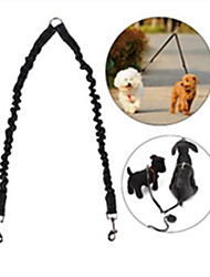 cheap -Dog Leash Hands Free Leash Double Dog Leash Reflective Adjustable / Retractable Running Safety Solid Colored Nylon Rubber Red Blue
