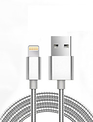 cheap -Apple Lightning / Lightning Cable <1m / 3ft Normal / Braided Aluminum / Metal USB Cable Adapter For iPhone 7 / iPhone 7 Plus / iPad