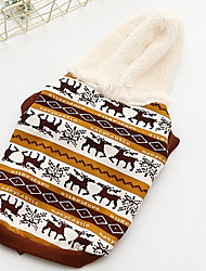 cheap -Dog Coat Jacket Winter Dog Clothes Yellow Red Costume Down Cotton Flower Casual / Daily Sports XS S M L XL XXL