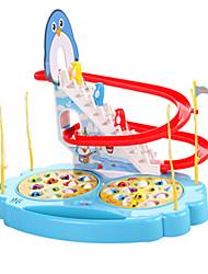 Недорогие -Рыболовные игрушки Вращающаяся Рыбалка Игрушка Пингвин Рыбки Магнитный Электрический 2 игрока ABS Детские Игрушки Подарок
