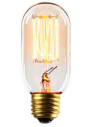 cheap -1pc 40 W E26 / E27 T45 Warm White 2300 k Retro / Decorative Incandescent Vintage Edison Light Bulb 220-240 V