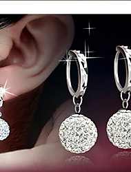 cheap -Earrings Lever Back Earrings Ladies Sterling Silver Earrings Jewelry Silver For Wedding Masquerade Engagement Party Prom Promise