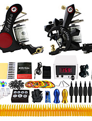 cheap -Solong Tattoo Tattoo Machine Professional Tattoo Kit - 2 pcs Tattoo Machines, Professional LCD power supply Case Not Included 2 alloy machine liner & shader