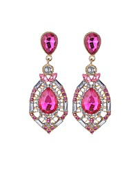 cheap -Women's Drop Earrings Chandelier Teardrop Fashion Euramerican Rhinestone Earrings Jewelry Rose / Green / Blue For Party Daily