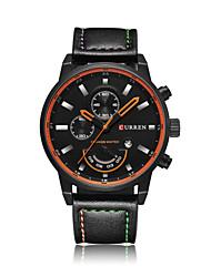 cheap -Men's Fashion Watch Leather Band Casual Black / Orange / Grey