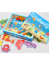 cheap -Fishing Toy Educational Toy Wooden Fish Novelty Kid's Boys' Toys Gifts