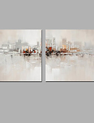 cheap -Oil Painting Hand Painted - Landscape Classic Modern Stretched Canvas