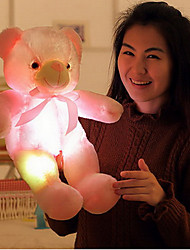 cheap -Teddy Bear Bear Teddy Bear LED Lighting Christmas Gift Christmas Toy Stuffed Animal Plush Toy Stress Reliever Cute LED Lighting Glow in