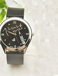 cheap -Women's Fashion Watch Quartz Silicone Black Rhinestone Imitation Diamond Analog Ladies Charm Casual Word Watch - Black