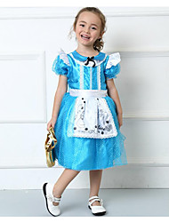 cheap -Princess Cinderella Cosplay Costume Party Costume Kid's Halloween Carnival Children's Day Festival / Holiday Polyester Cotton Carnival Costumes Patchwork Lace
