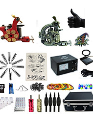 cheap -BaseKey Professional Tattoo Kit Tattoo Machine - 2 pcs Tattoo Machines Analog power supply 2 alloy machine liner & shader / Case Included