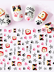 cheap -1pcs-3d-nail-stickers-lovely-cartoon-image-colorful-cute-cat-leopard-cat-nail-art-tips-design-manicure-beauty-f071-078
