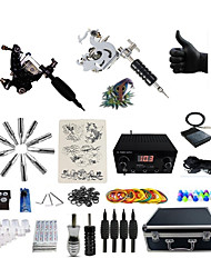 cheap -BaseKey Professional Tattoo Kit Tattoo Machine - 6 pcs Tattoo Machines, Professional LCD power supply 2 steel machine liner & shader / Case Included