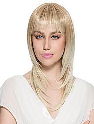cheap -bleach blonde wig synthetic fiber wig long straight women s wig hairstyle