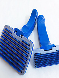 cheap -Cat Dog Brushes Grooming Cleaning Hair Removal Product Plastic Comb Brush Waterproof Portable Pet Grooming Supplies Multi color 1 Piece