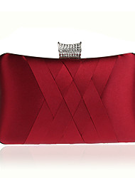 cheap -Women's Crystal / Rhinestone / Ruffles Polyester Evening Bag Geometric Black / Sky Blue / Purple