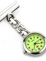 Недорогие -Жен. Муж. Карманные часы Кварцевый / сплав Группа Повседневная Серебристый металл