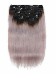 cheap -Clip In Human Hair Extensions Straight Ombre Human Hair Extensions Human Hair