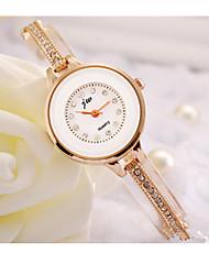 cheap -Women's Sport Watch Quartz / Stainless Steel Band Gold White Gloden
