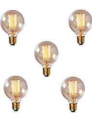 cheap -5pcs 40W E26 / E27 G80 Warm White 2200-2700k Retro Dimmable Decorative Incandescent Vintage Edison Light Bulb 220-240V