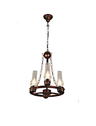cheap -3-Light 37 cm Mini Style / Designers Pendant Light Metal Glass Painted Finishes Rustic / Lodge / Vintage / Retro 110-120V / 220-240V