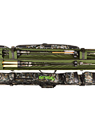cheap -AFISHLURE®New Design Double open Fishing Rod Tube Lure Rod Bag 1.45MBlack/Camouflage 145cmx10cmx10cm