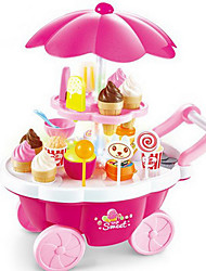 cheap -Ice Cream Cart Toy Toy Food / Play Food Pretend Play Food&Drink Ice Cream Dessert Child Safe Kid's Toddler Girls' Toy Gift 39 pcs
